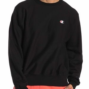 Champion Fleece Crew Sweatshirt Black Men's Sz XL